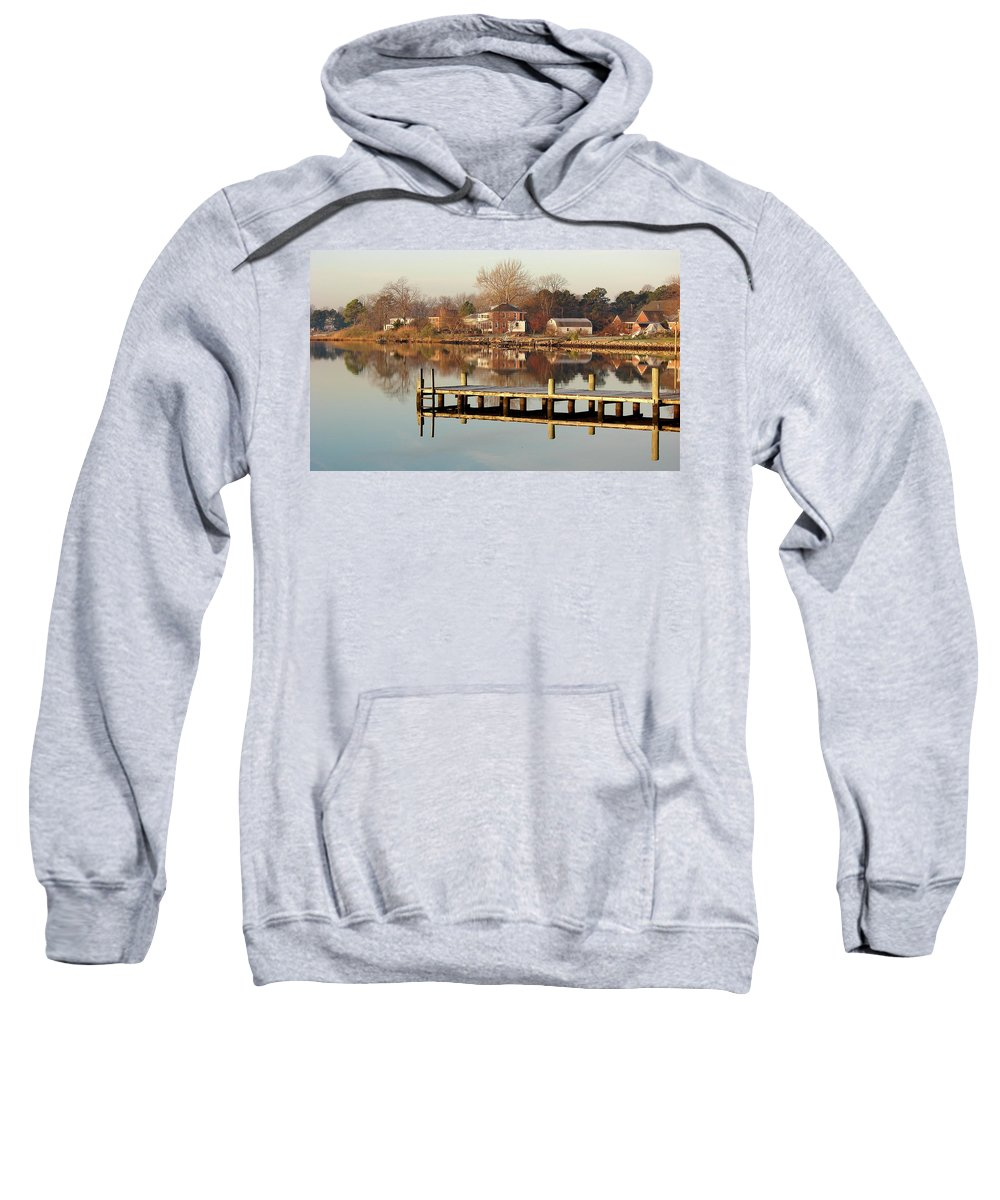 Hampton Sweatshirt featuring the photograph Hampton Virginia Sunrise by Brett Winn
