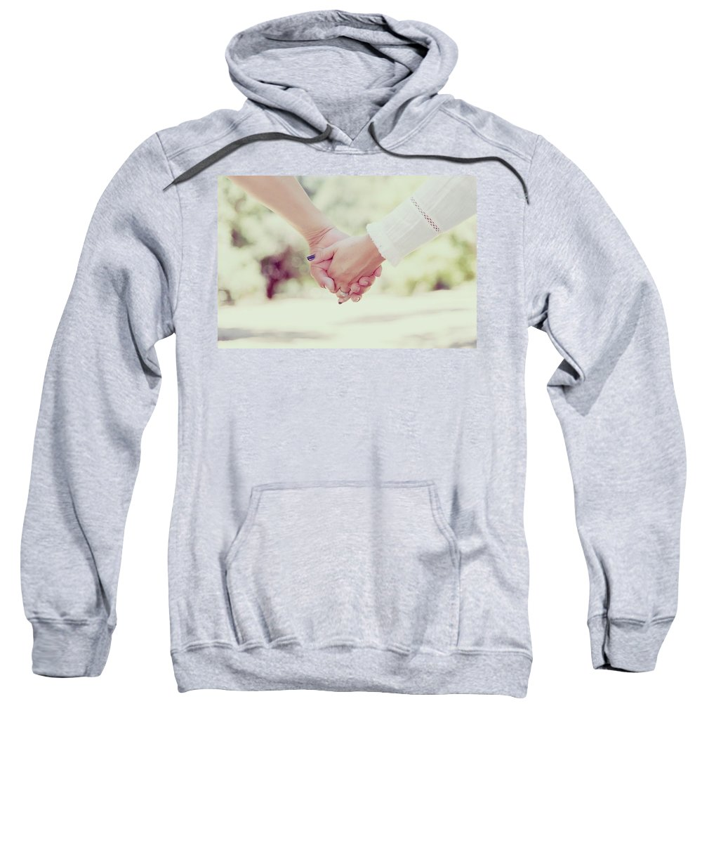 Love Sweatshirt featuring the photograph Hand In Hand by Sandy Sheni
