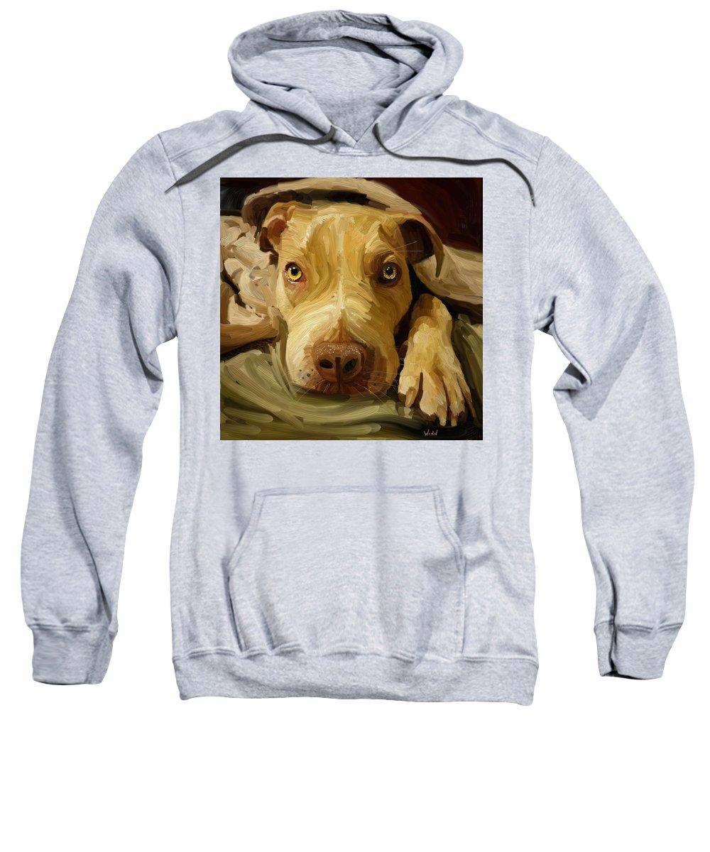 American Sweatshirt featuring the digital art Handsome Boy by Brett Winn