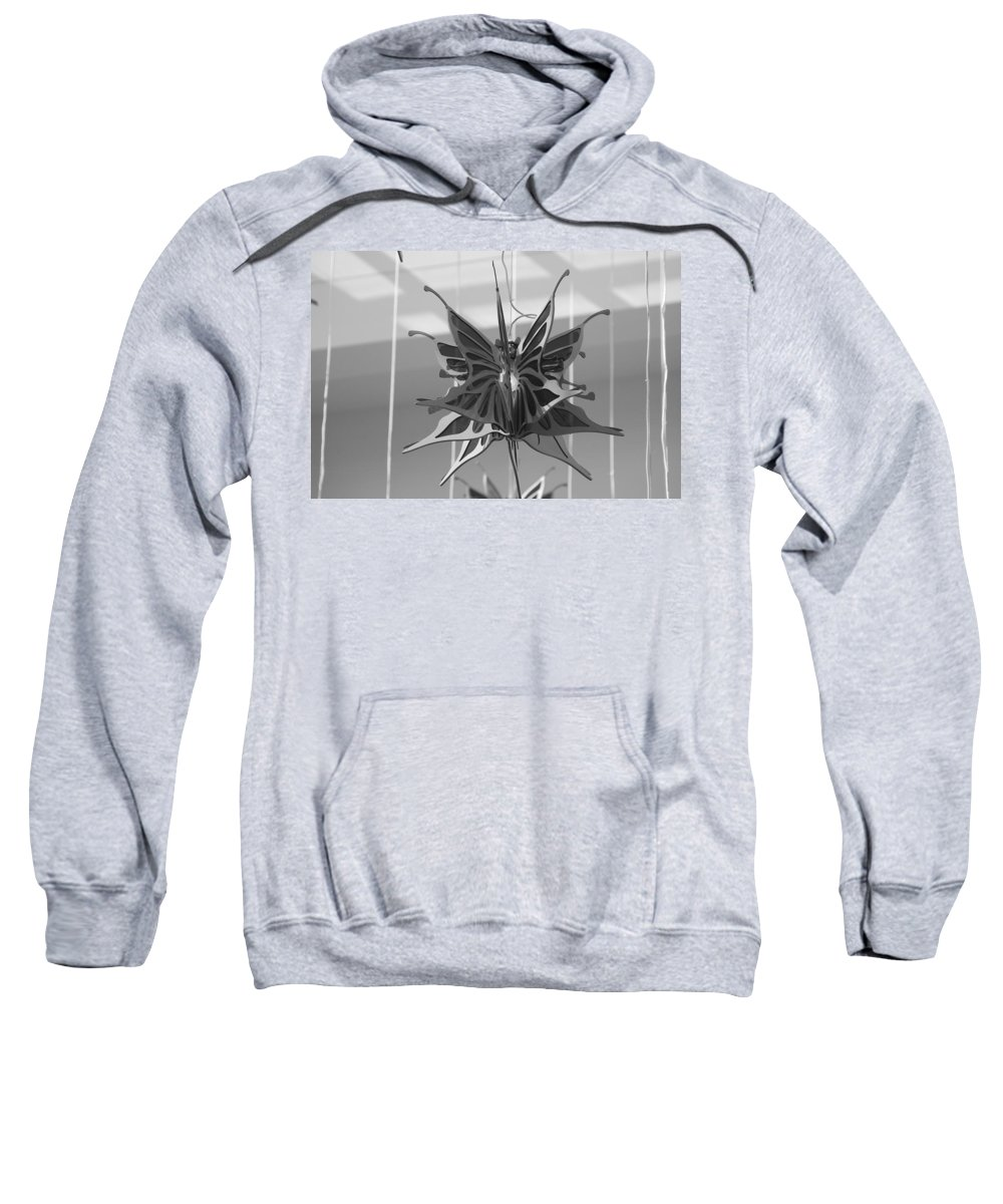 Black And White Sweatshirt featuring the photograph Hanging Butterfly by Rob Hans