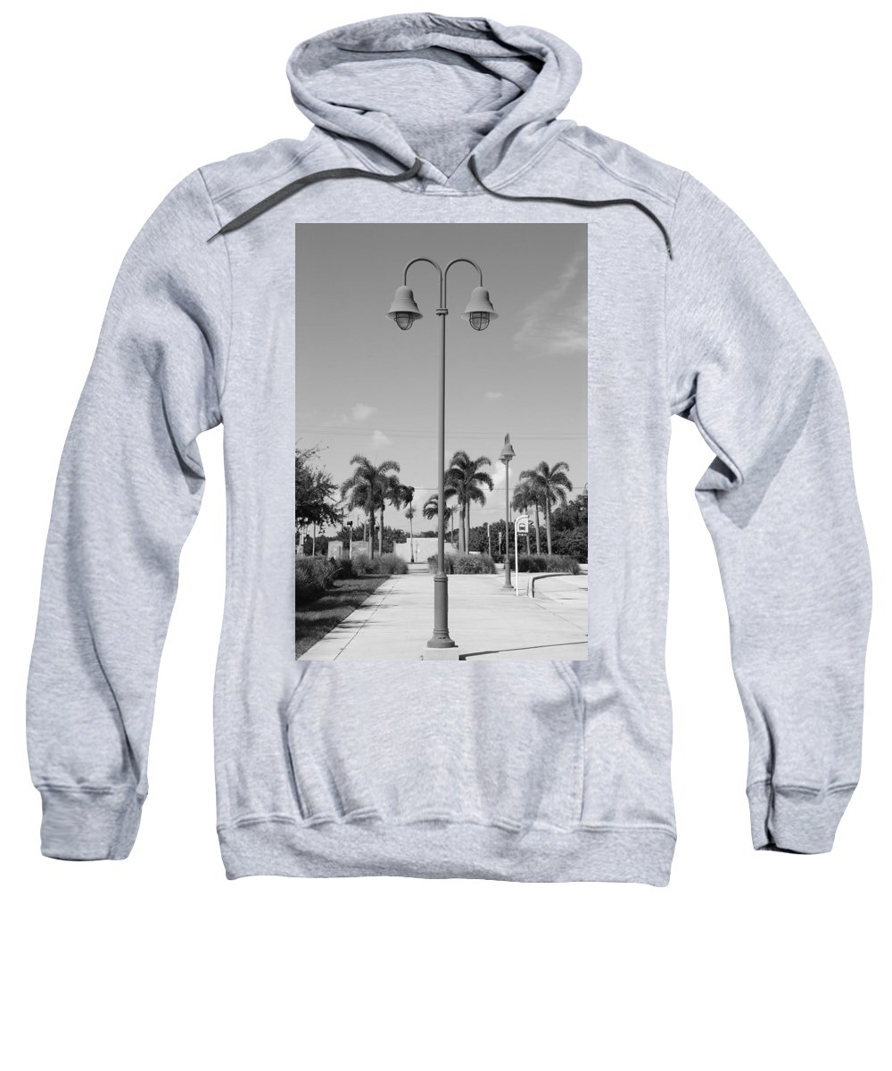 Black And White Sweatshirt featuring the photograph Hanging Lamps by Rob Hans