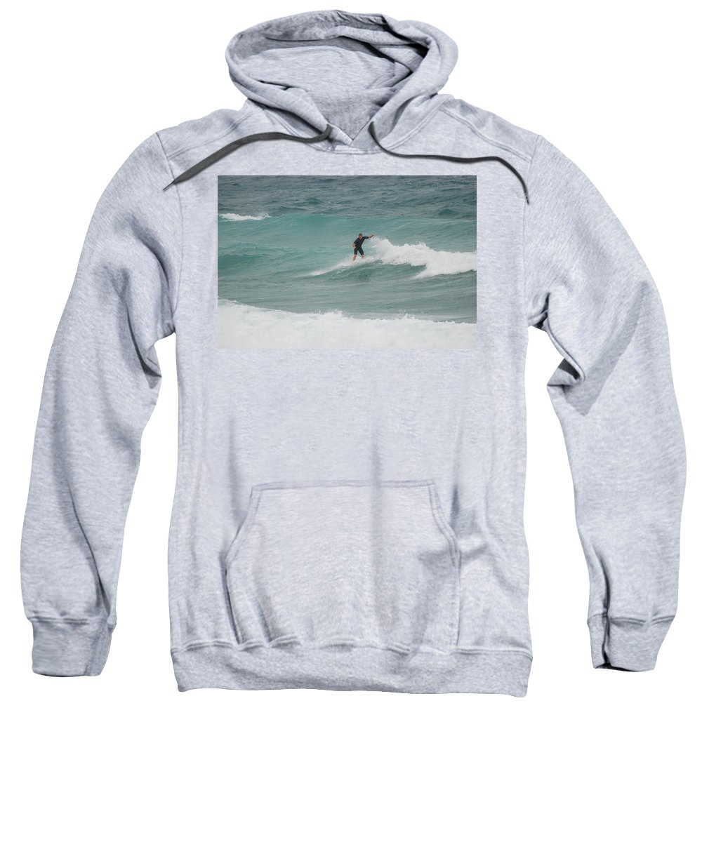 Water Sweatshirt featuring the photograph Hanging Ten by Rob Hans