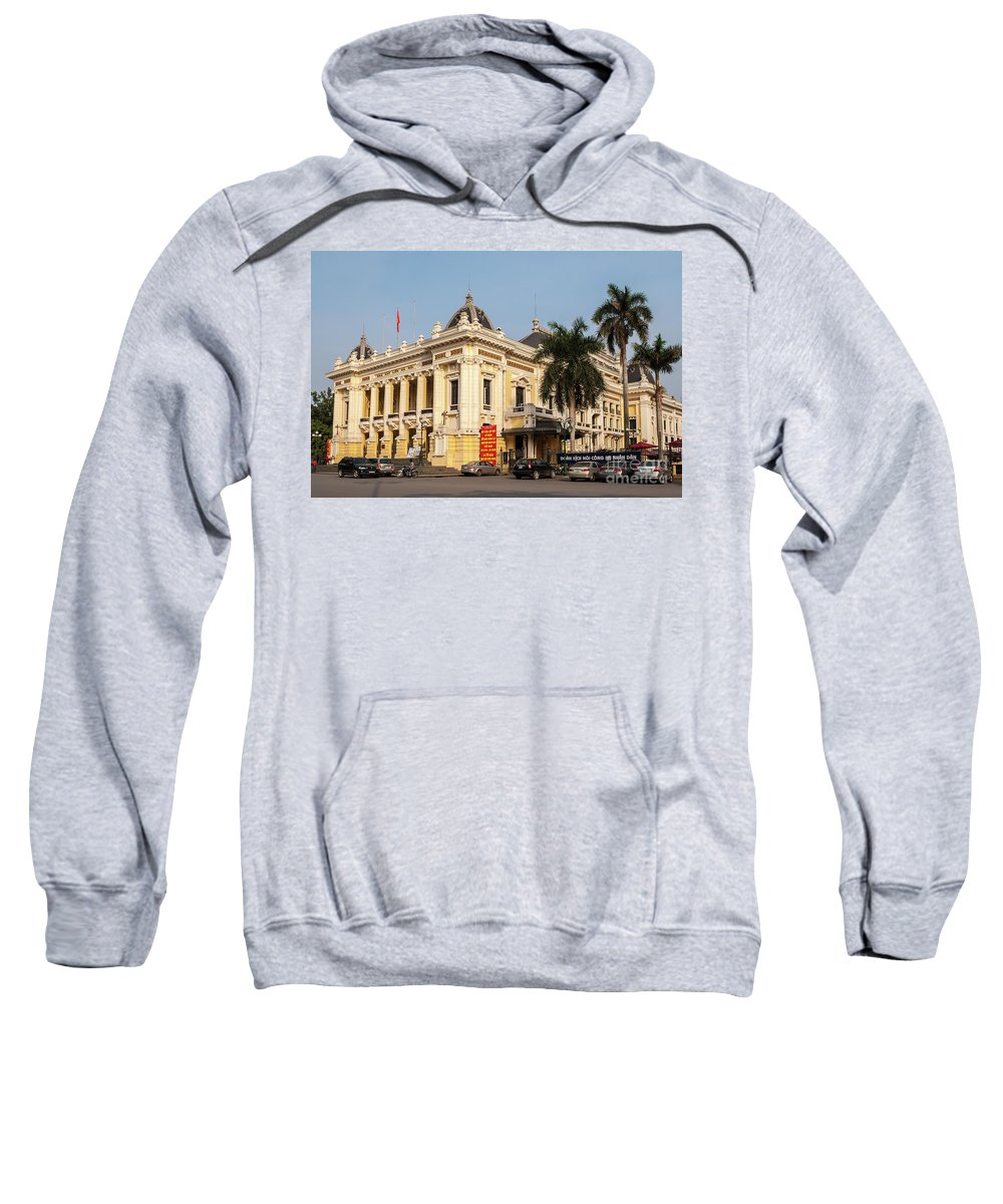 Vietnam Sweatshirt featuring the photograph Hanoi Opera House 02 by Rick Piper Photography