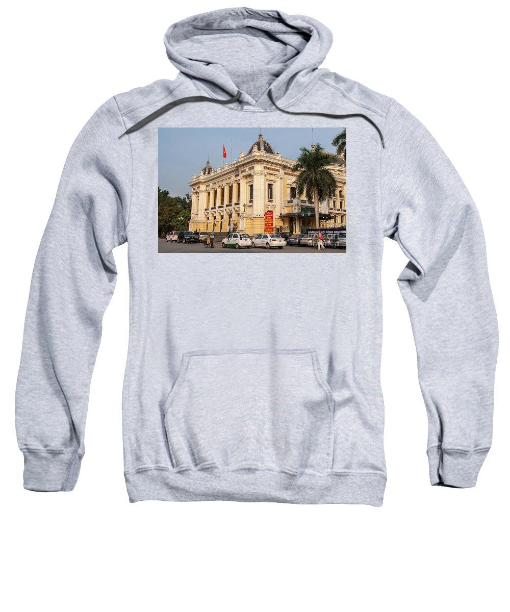 Vietnam Sweatshirt featuring the photograph Hanoi Opera House 04 by Rick Piper Photography