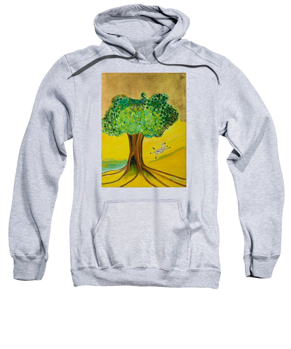 Landscape Sweatshirt featuring the painting Happiness by Jarle Rosseland