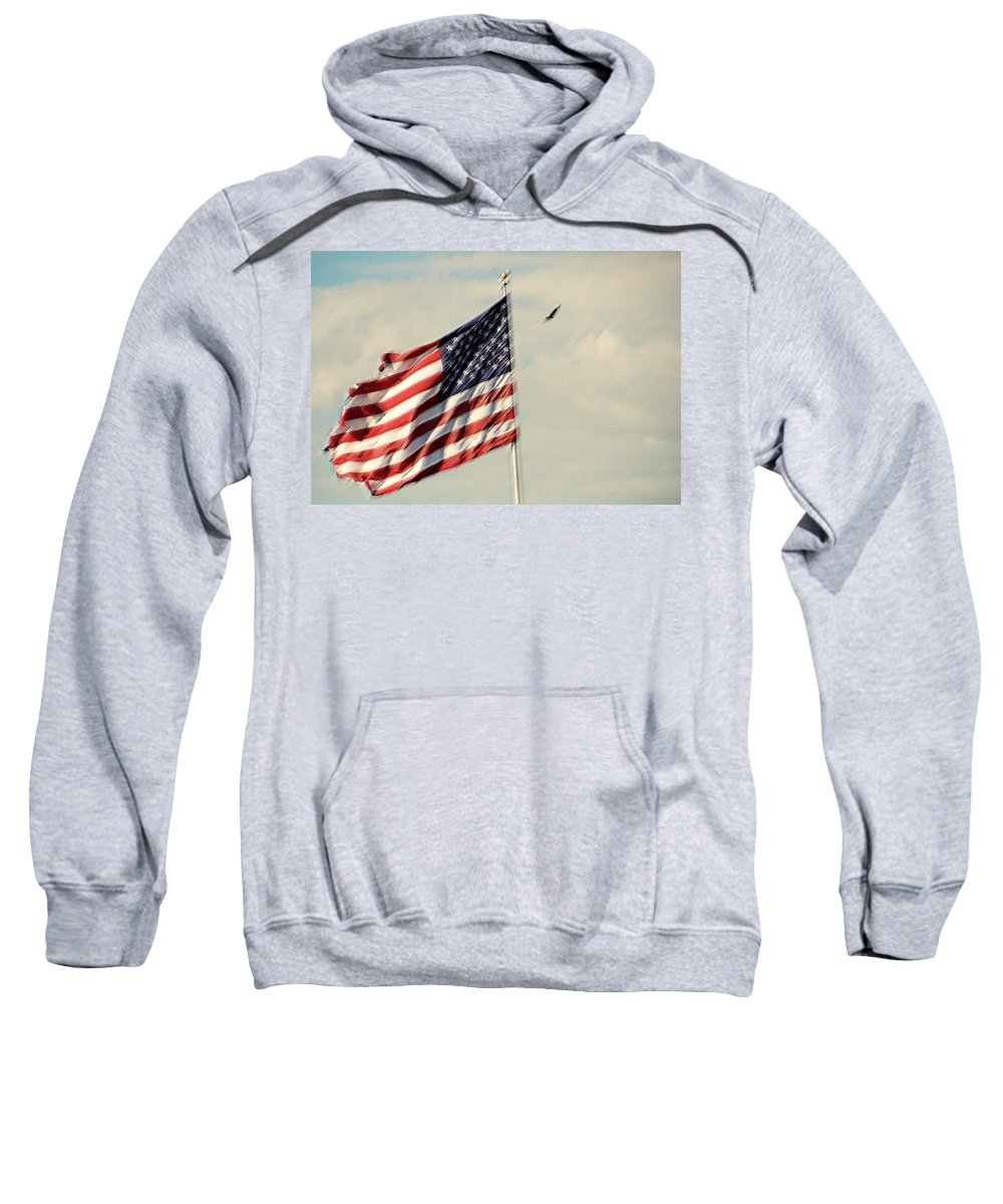 Photography Sweatshirt featuring the photograph Happy Birthday America by Susanne Van Hulst