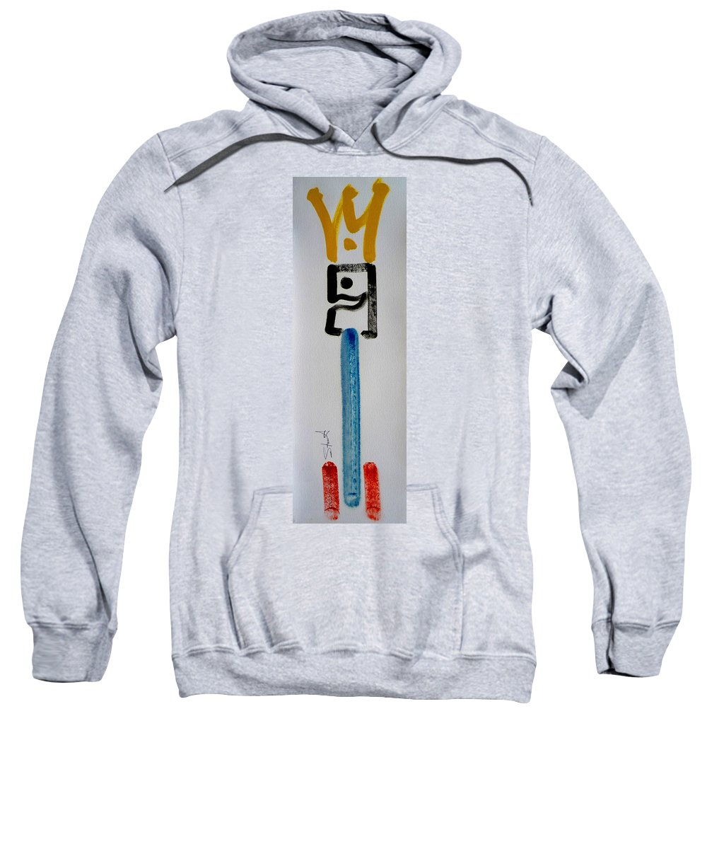King Sweatshirt featuring the painting Happy King by Charles Stuart
