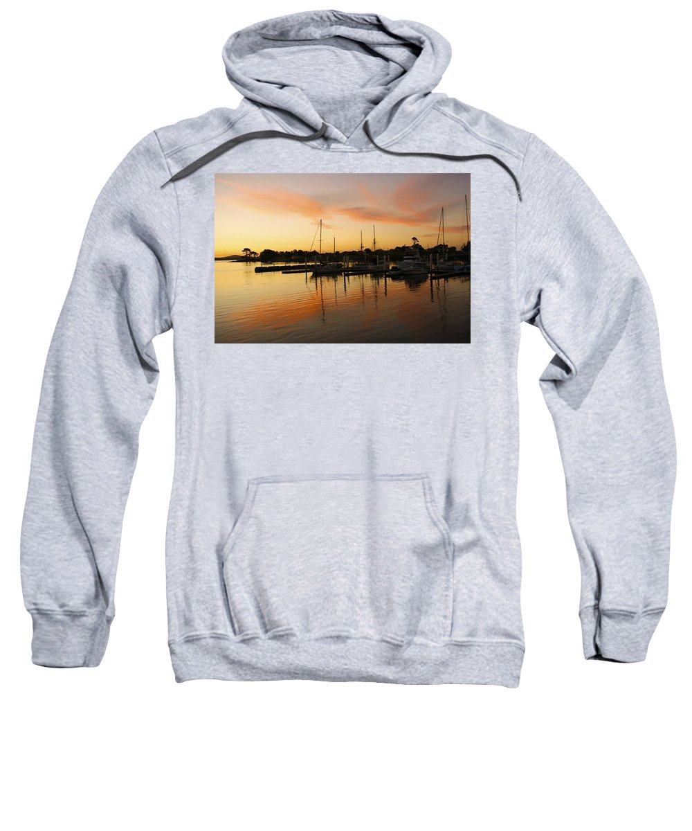 Sunset Sweatshirt featuring the photograph Harbour Sun Set by Kathryn Potempski