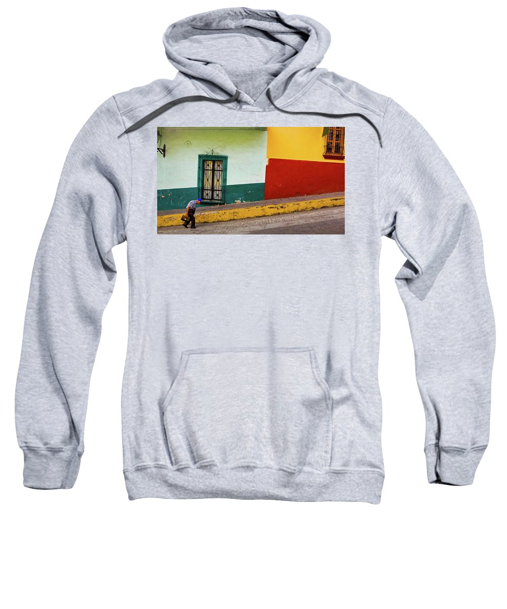 Man Sweatshirt featuring the photograph Hard Knock Life by Skip Hunt