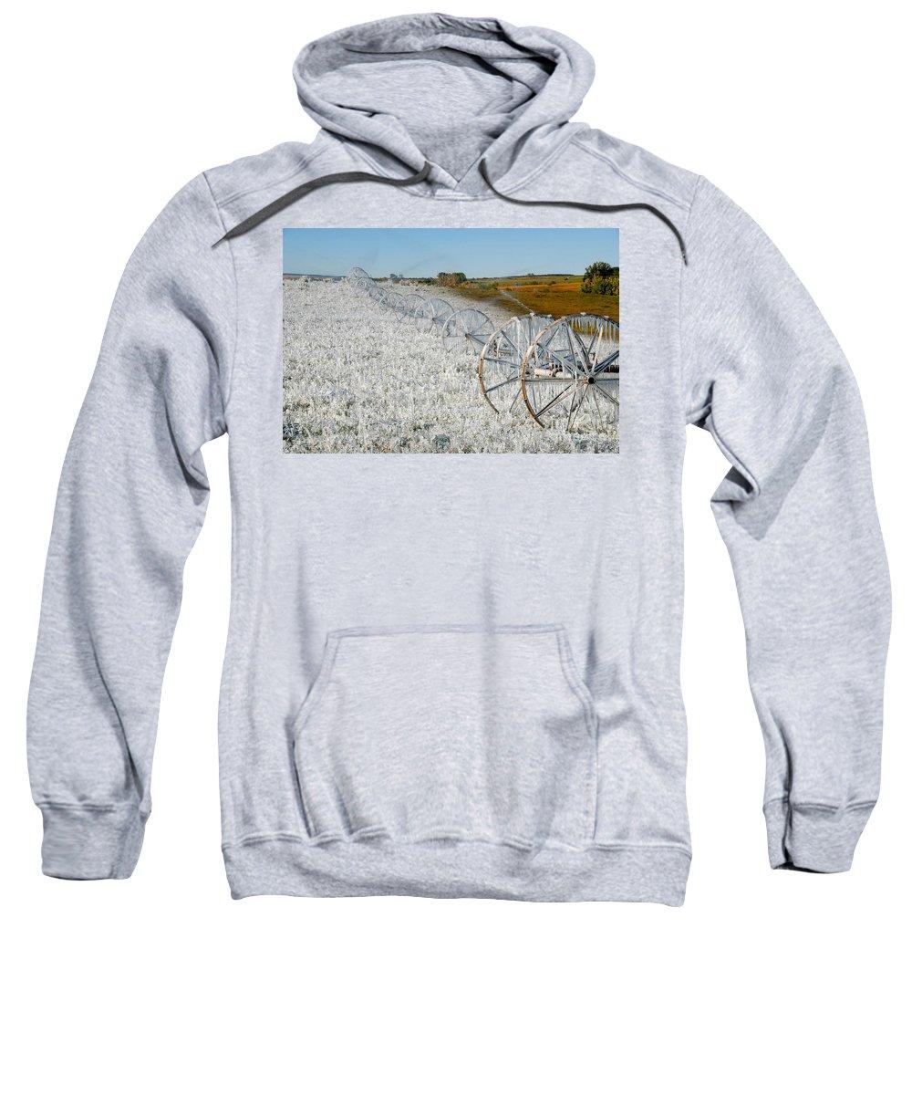 Farm Sweatshirt featuring the photograph Hard Land Farming by David Lee Thompson
