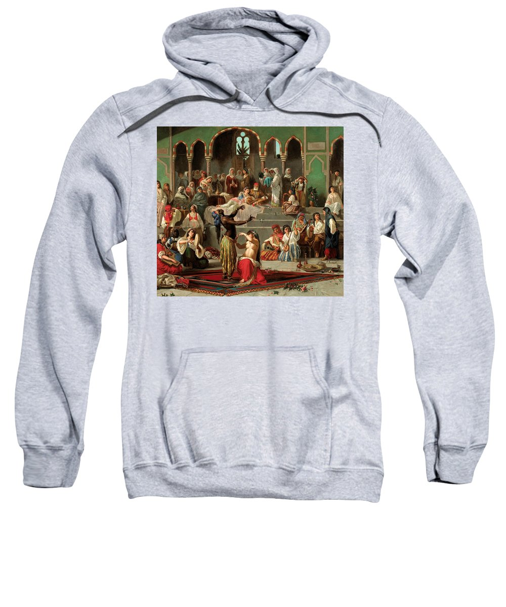 Georges-francois Guiaud Sweatshirt featuring the painting Harem Dancers by Georges-Francois Guiaud
