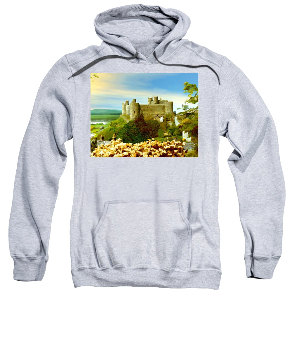 Castles Sweatshirt featuring the photograph Harlech Castle by Kurt Van Wagner