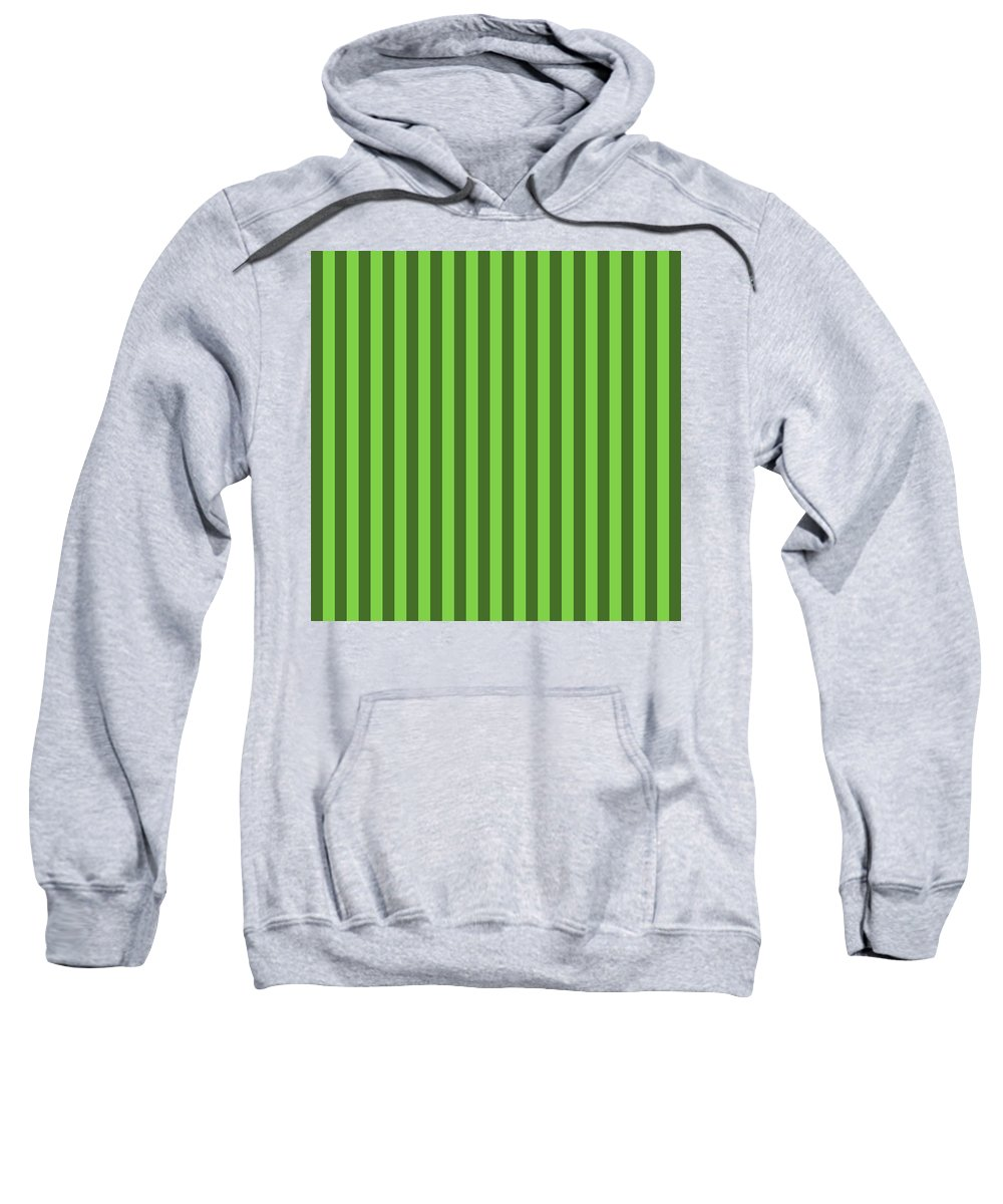 Harlequin Sweatshirt featuring the digital art Harlequin Green Striped Pattern Design by Ross