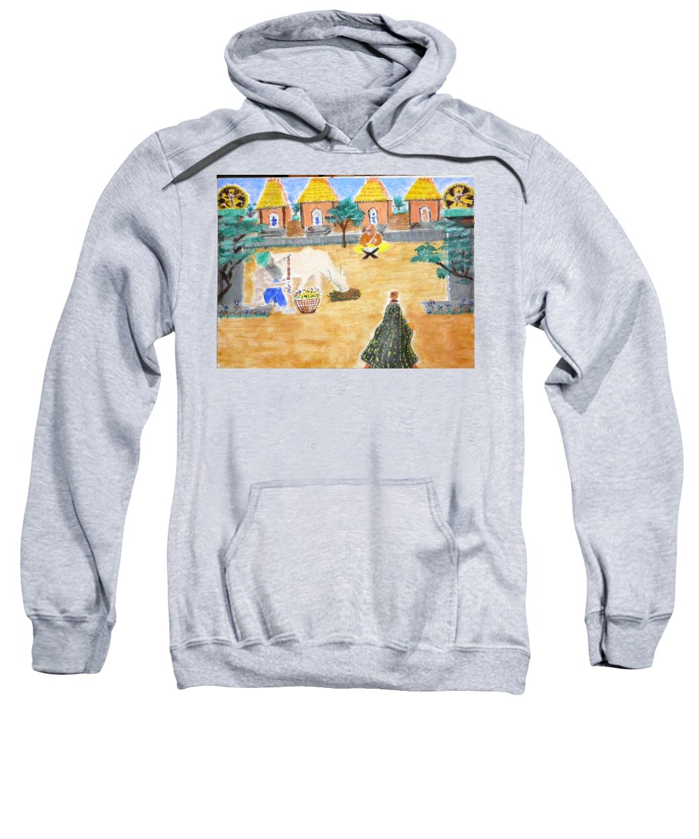 Sweatshirt featuring the painting Harmony by R B