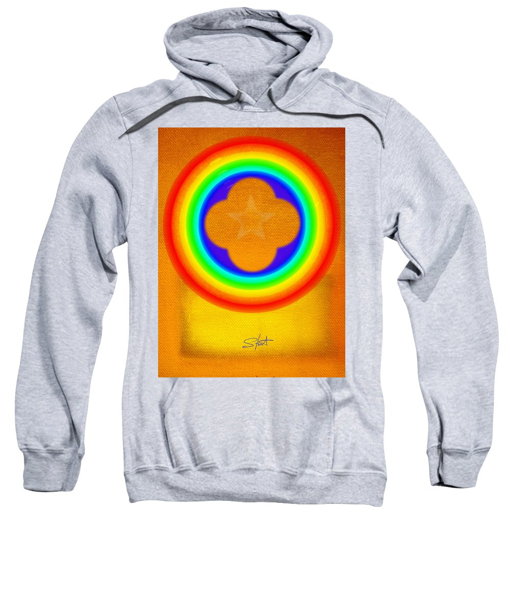 Abstract Sweatshirt featuring the painting Harvest Gold by Charles Stuart