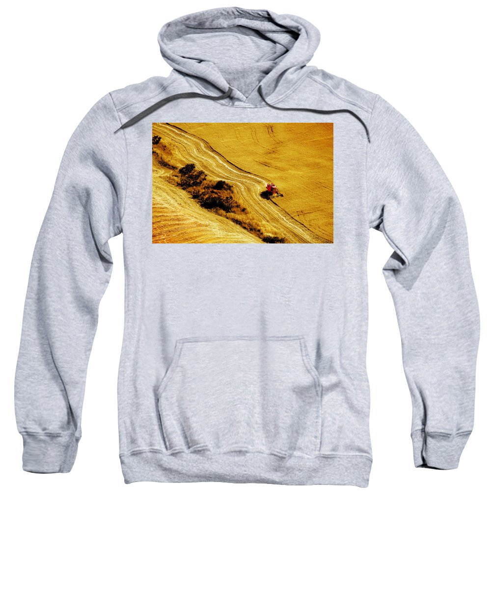 Combine Sweatshirt featuring the photograph Harvesting The Crop by Mal Bray