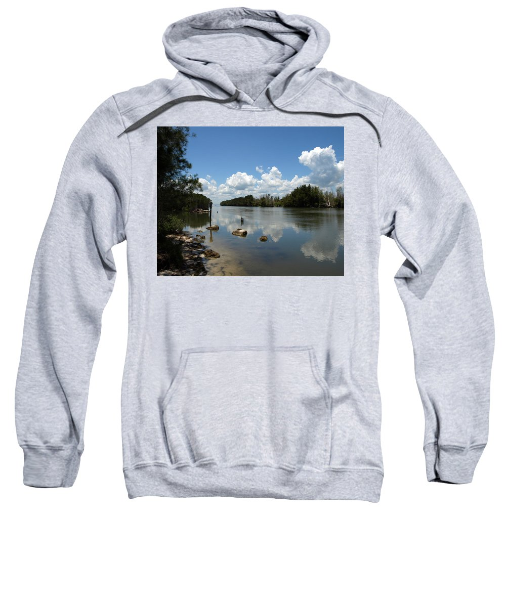 Eco-tourist; Ecotourist; Eco; Tourist; Kayak; Manatee; Sea; Cow; Ecology; Environment; Endangered; S Sweatshirt featuring the photograph Haulover Canal On The Space Coast Of Florida by Allan Hughes