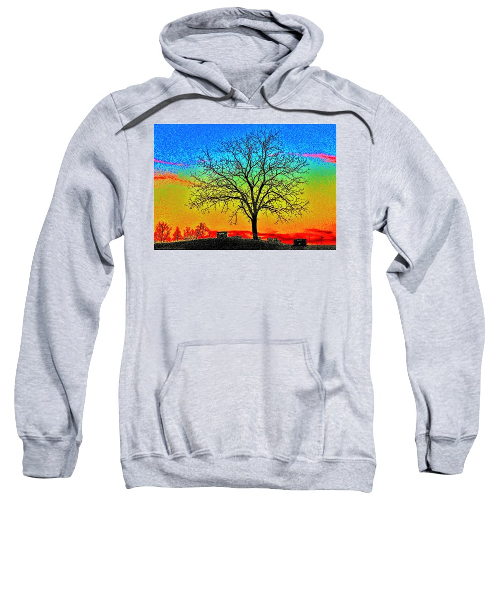 Tree Sweatshirt featuring the photograph Haunting by Chad Fuller