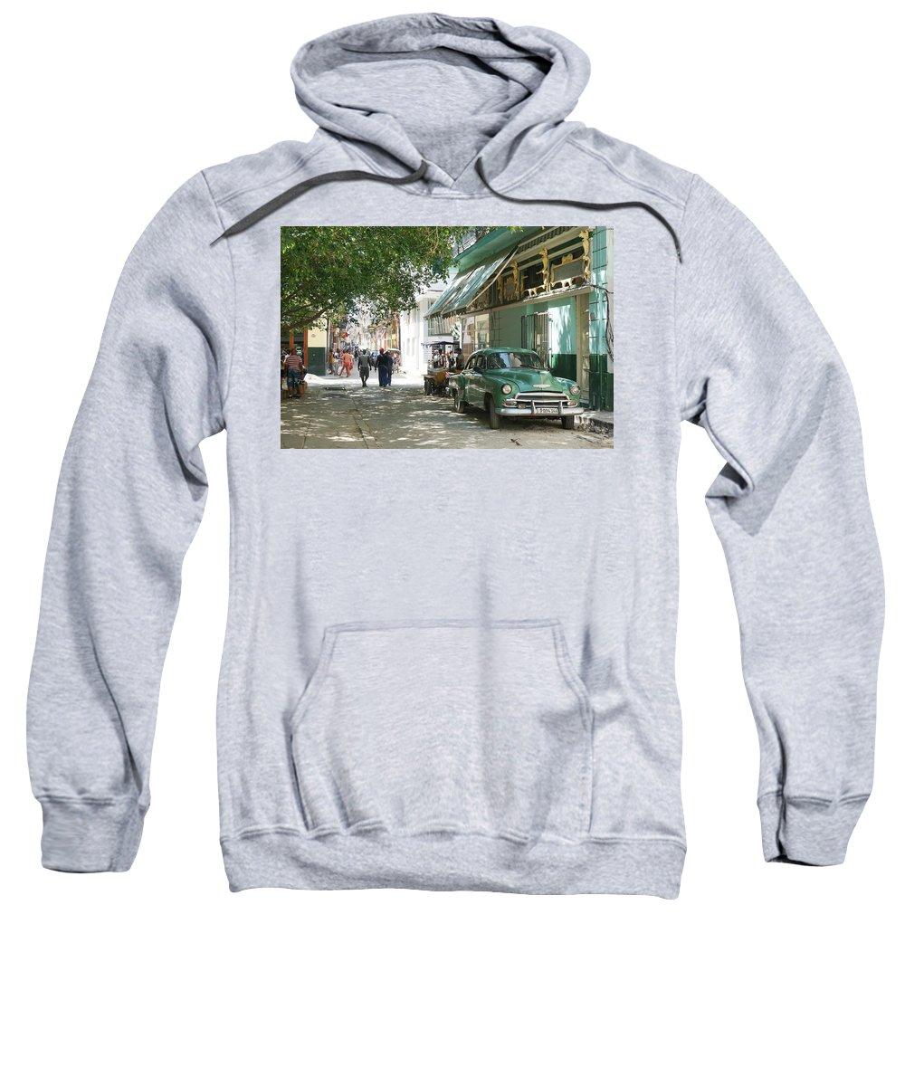 Havana Sweatshirt featuring the photograph Havana Streets 1 by Lusi Morhayim