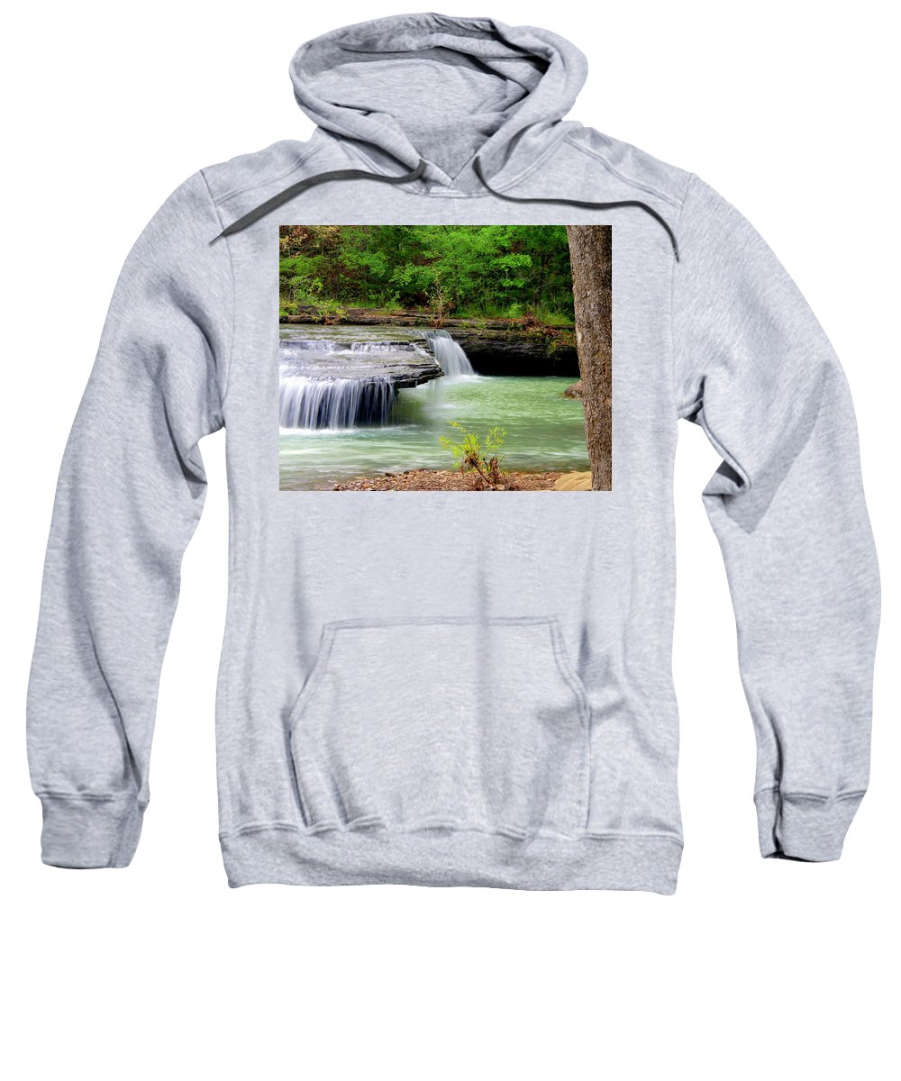 Waterfalls Sweatshirt featuring the photograph Haw Creek Falls by Marty Koch