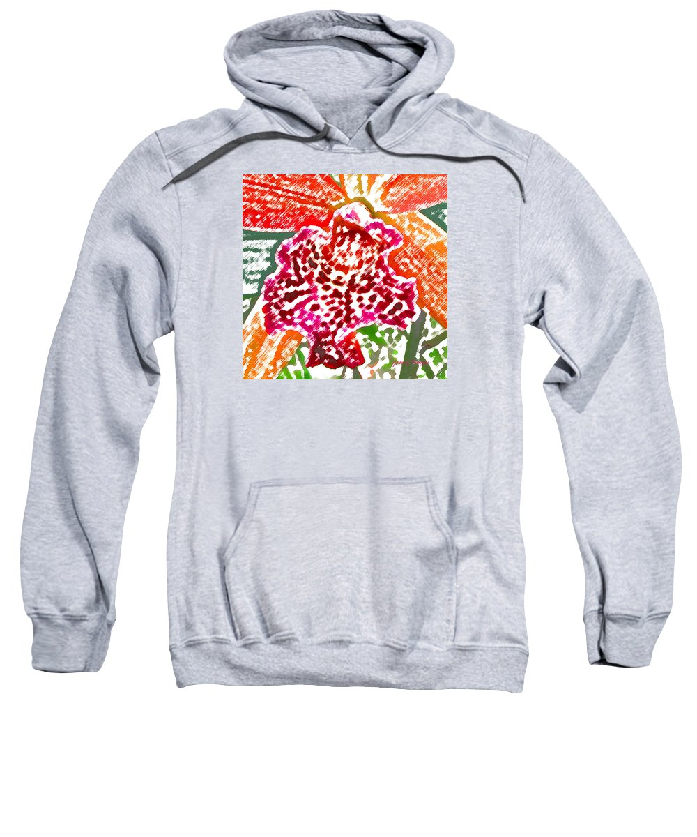 Orchid Sweatshirt featuring the digital art Hawaiian Orchid by James Temple