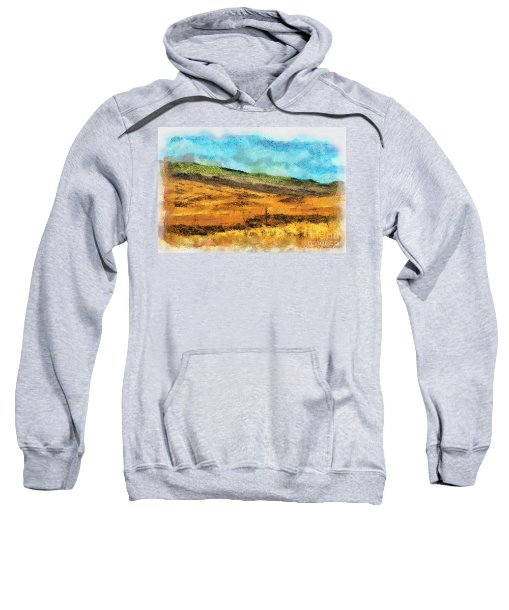 Photograph Sweatshirt featuring the photograph Hawaiian Pasture by Paulette B Wright