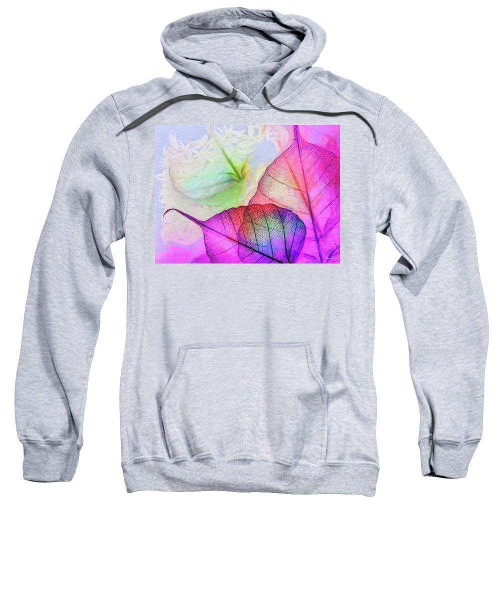 Leaves Sweatshirt featuring the digital art Hc0268 by Heloisa Castro
