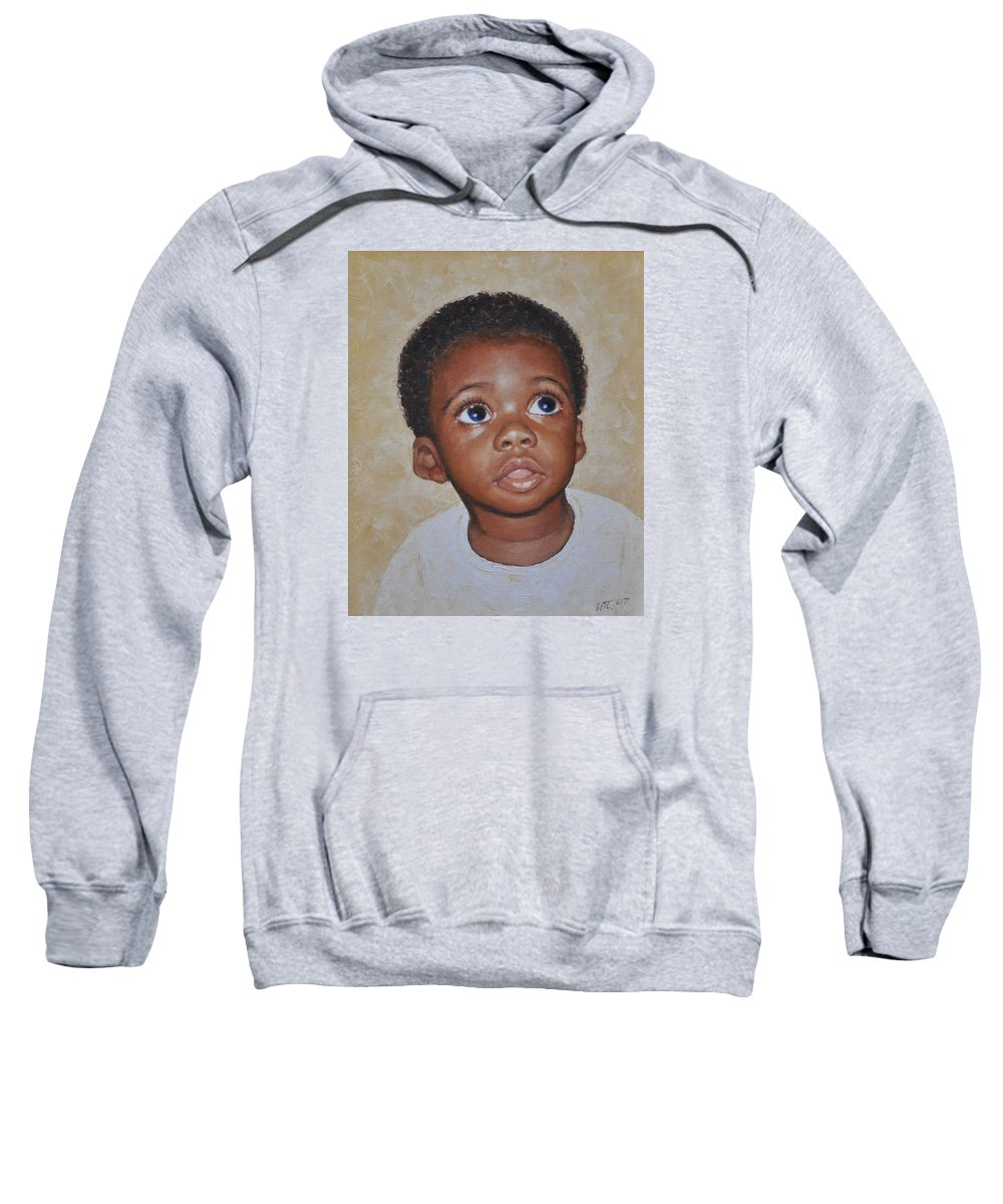 Portaits Sweatshirt featuring the painting He Is Coming by Iliyan Bozhanov