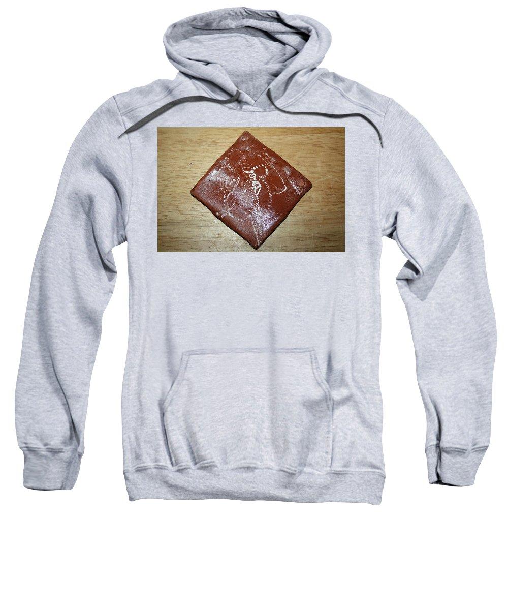 Jesus Sweatshirt featuring the ceramic art He Said What- Tile by Gloria Ssali