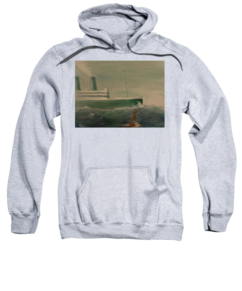 Ship Sweatshirt featuring the painting Heading In by Christopher Jenkins
