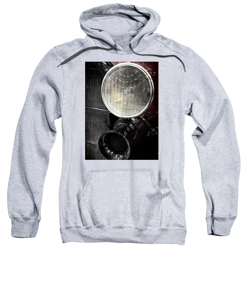 Steampunk Sweatshirt featuring the photograph Headlight by Karen Christine Boissonneault