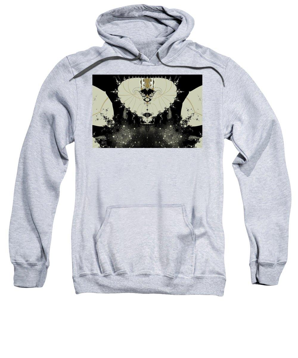 Abstract Sweatshirt featuring the digital art Headman by Jim Pavelle