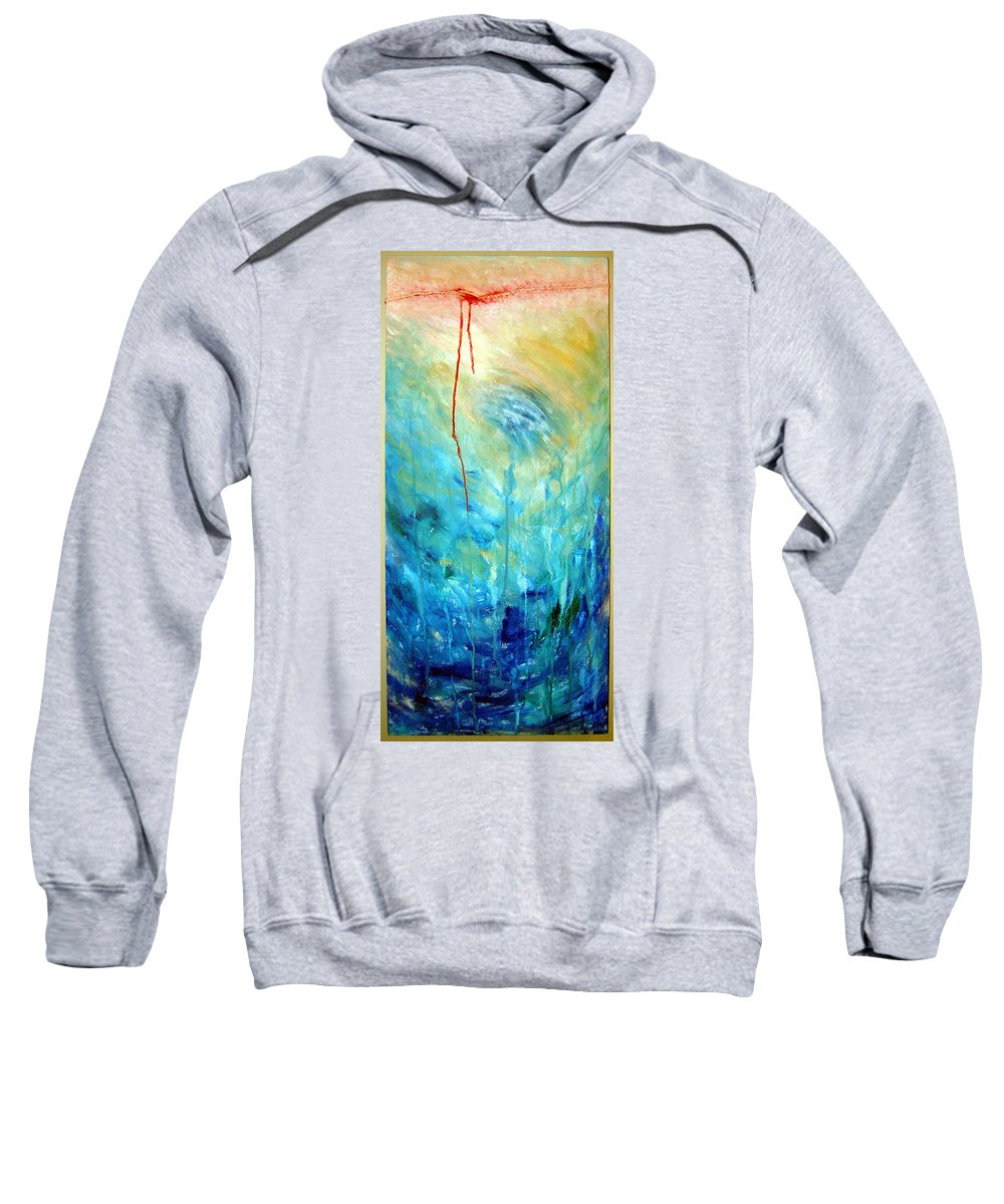 Acrylic Sweatshirt featuring the painting Healing II by Nancy Mueller