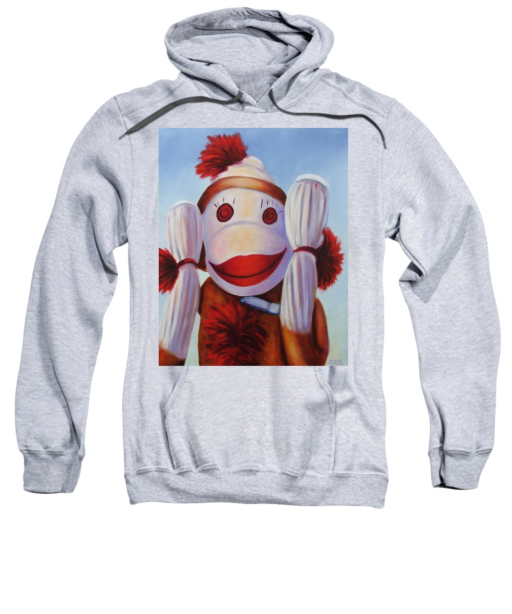 Children Sweatshirt featuring the painting Hear No Bad Stuff by Shannon Grissom