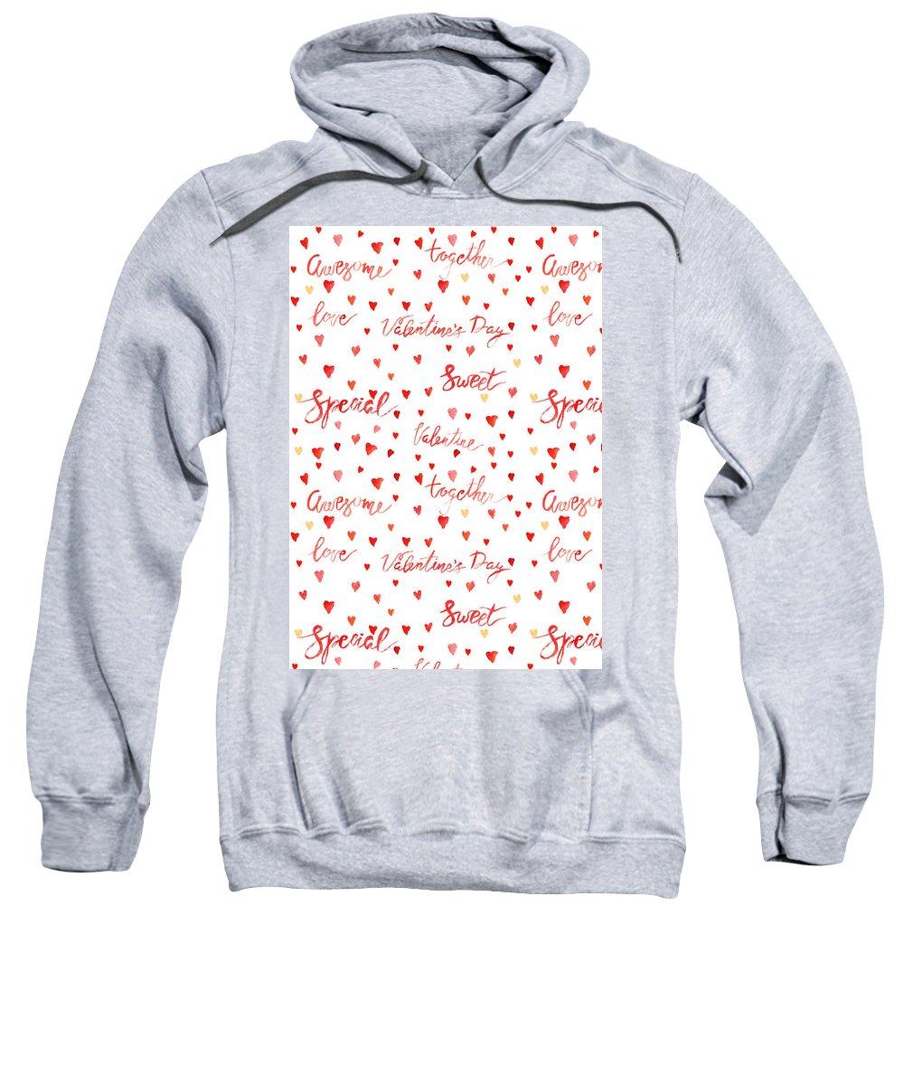 Heart Sweatshirt featuring the digital art Heart Jp08 by Sandy Sheni