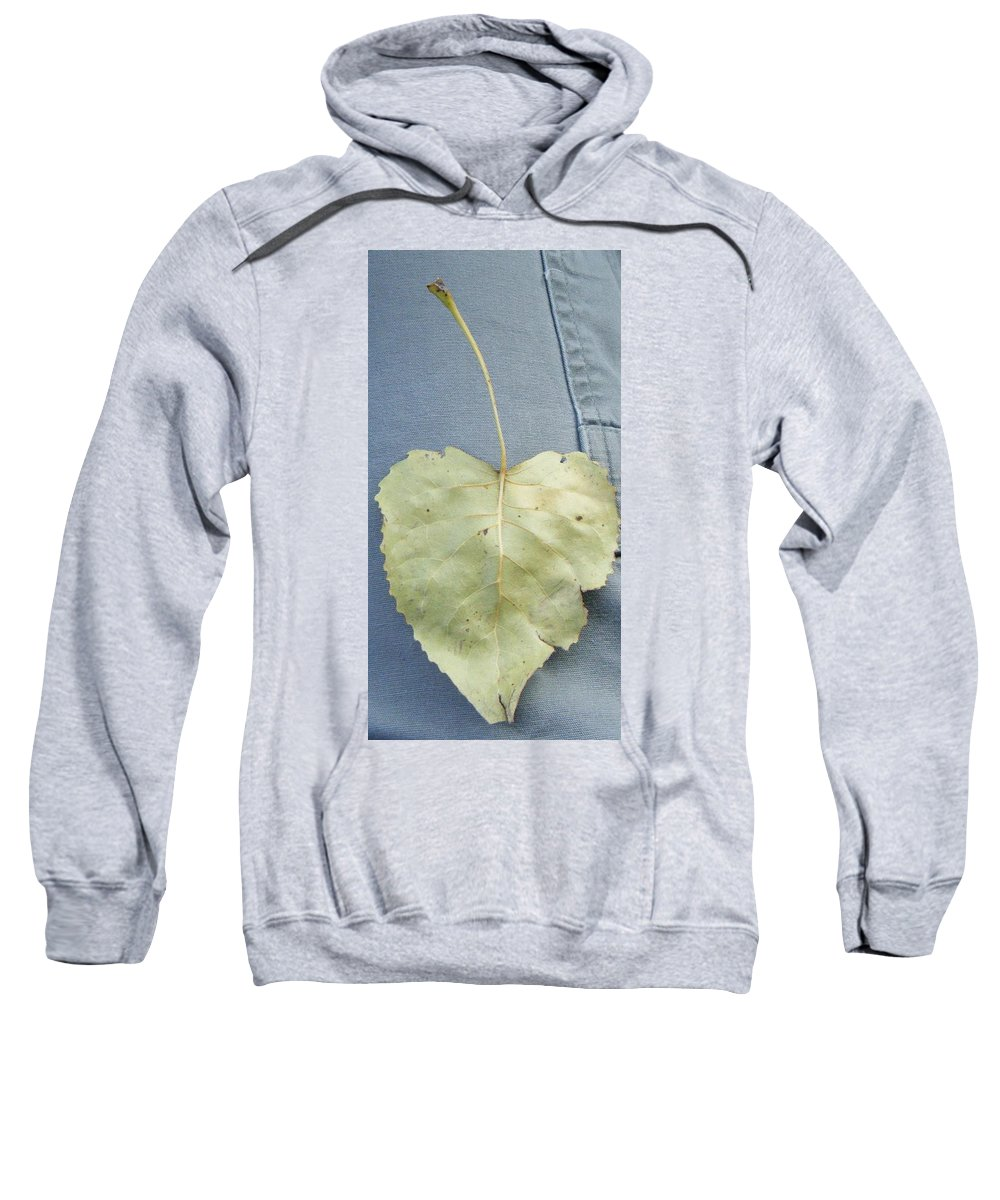 Sweatshirt featuring the photograph Heart Leaf by Christy Hicks