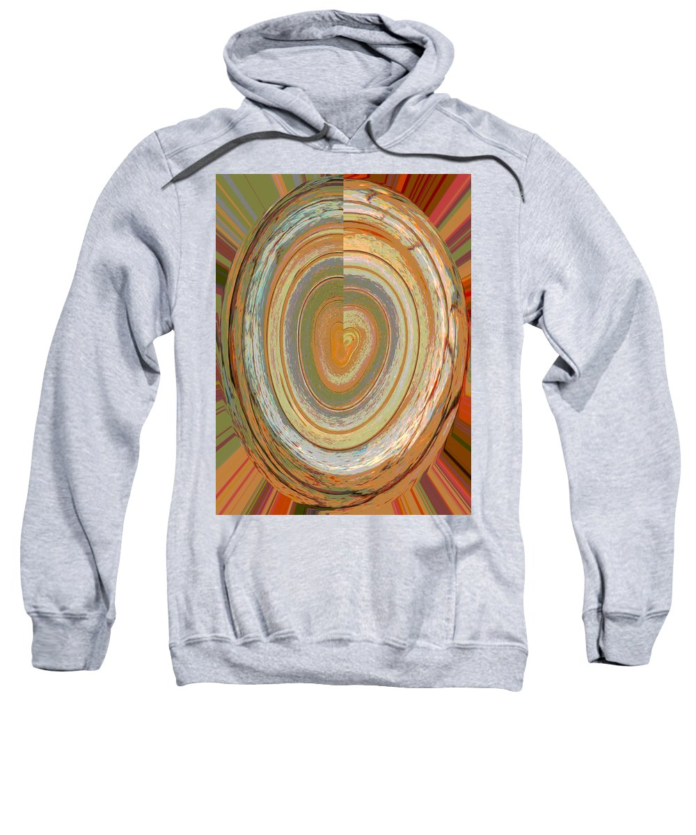 Abstract Sweatshirt featuring the digital art Heart Of The Tree by Lenore Senior
