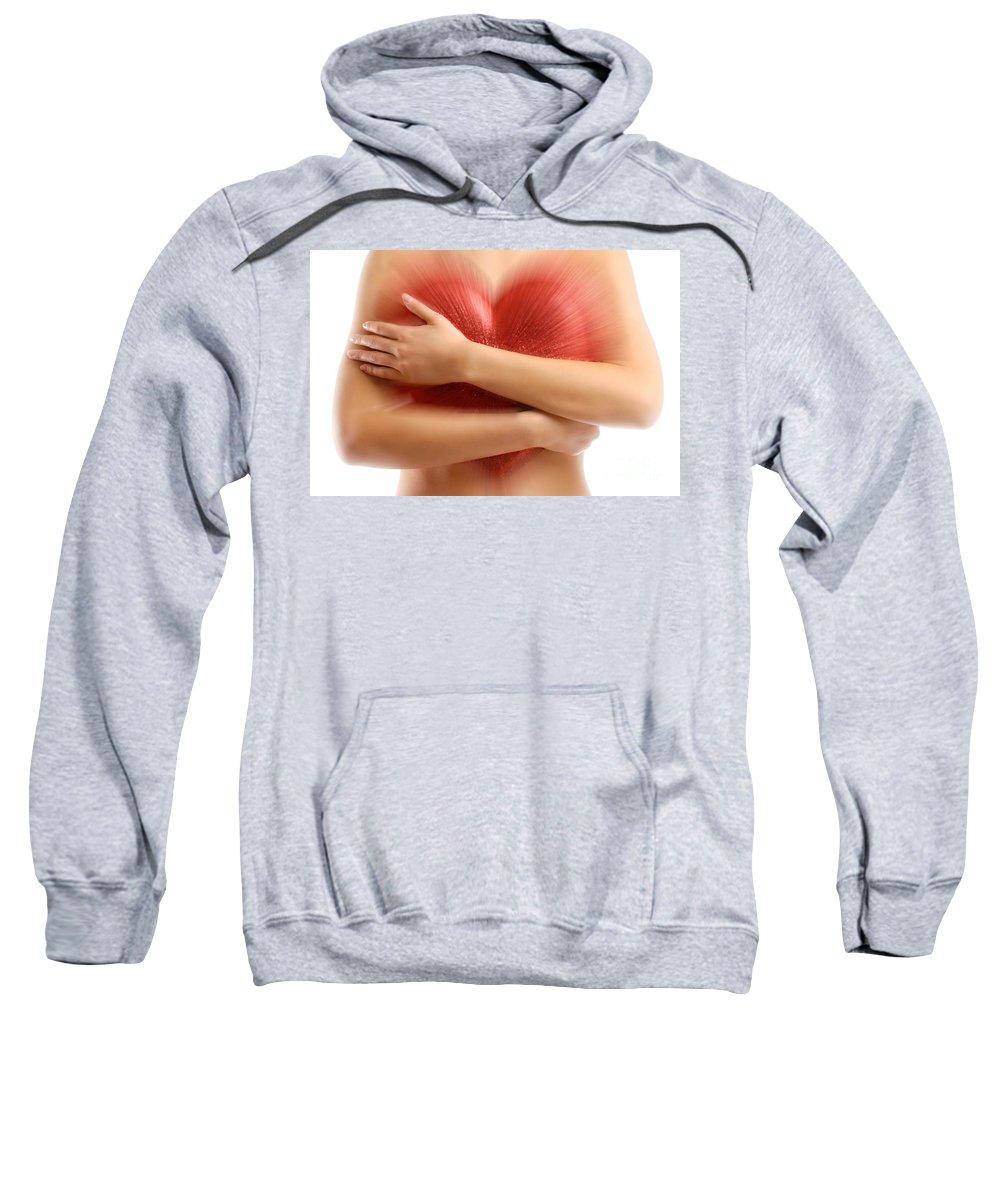 Woman Sweatshirt featuring the photograph Heart by Oleksiy Maksymenko