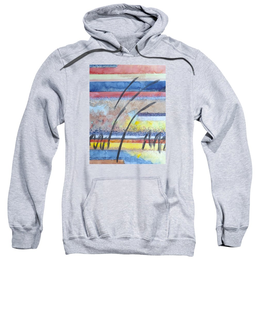 Abstract Sweatshirt featuring the painting Heartbeat by Jacqueline Athmann