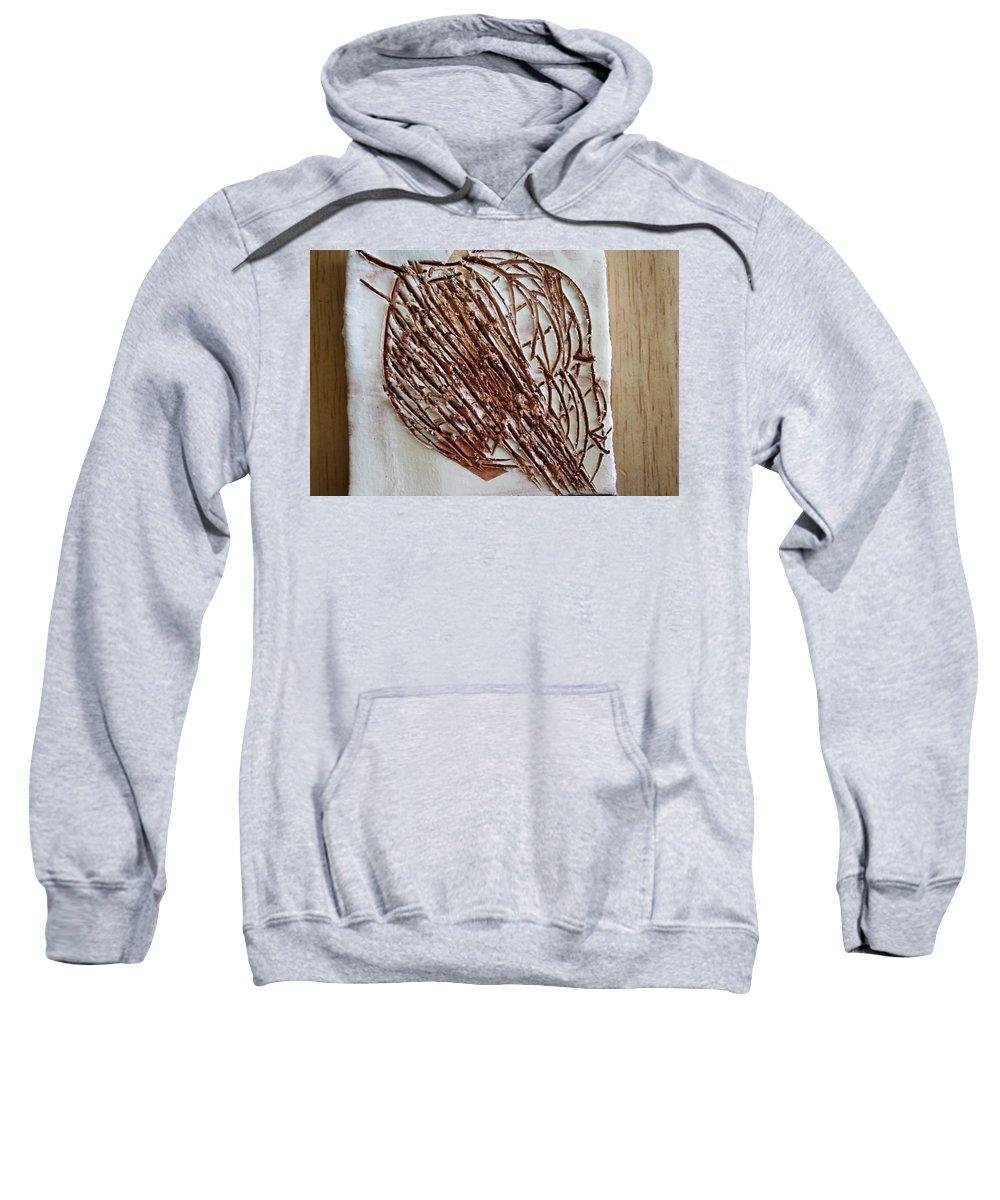 Jesus Sweatshirt featuring the ceramic art Heartfelt - Tile by Gloria Ssali