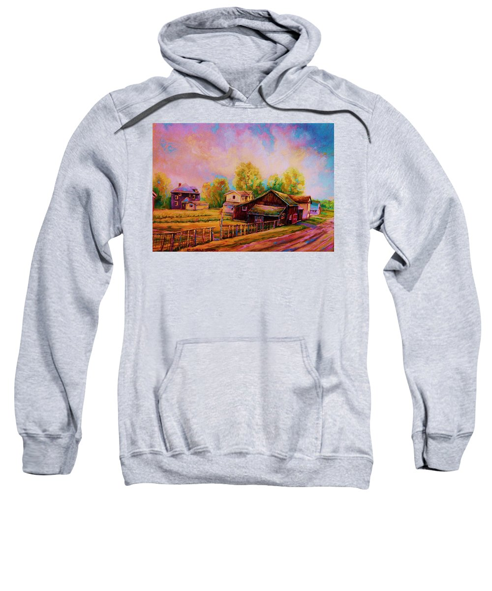Landscape Sweatshirt featuring the painting Hearth And Home by Carole Spandau