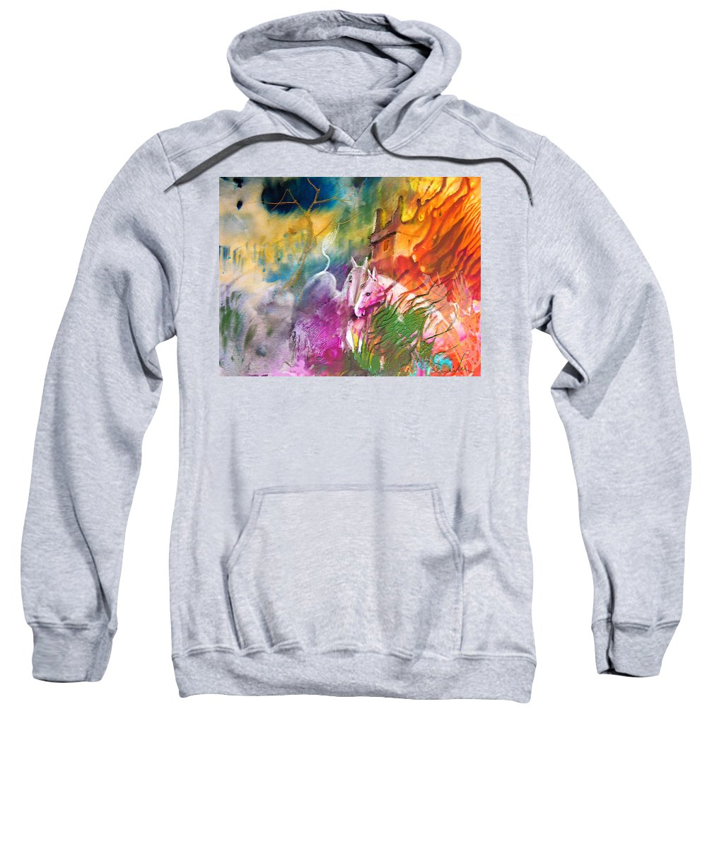 Love Sweatshirt featuring the painting Hearts In Fire by Miki De Goodaboom