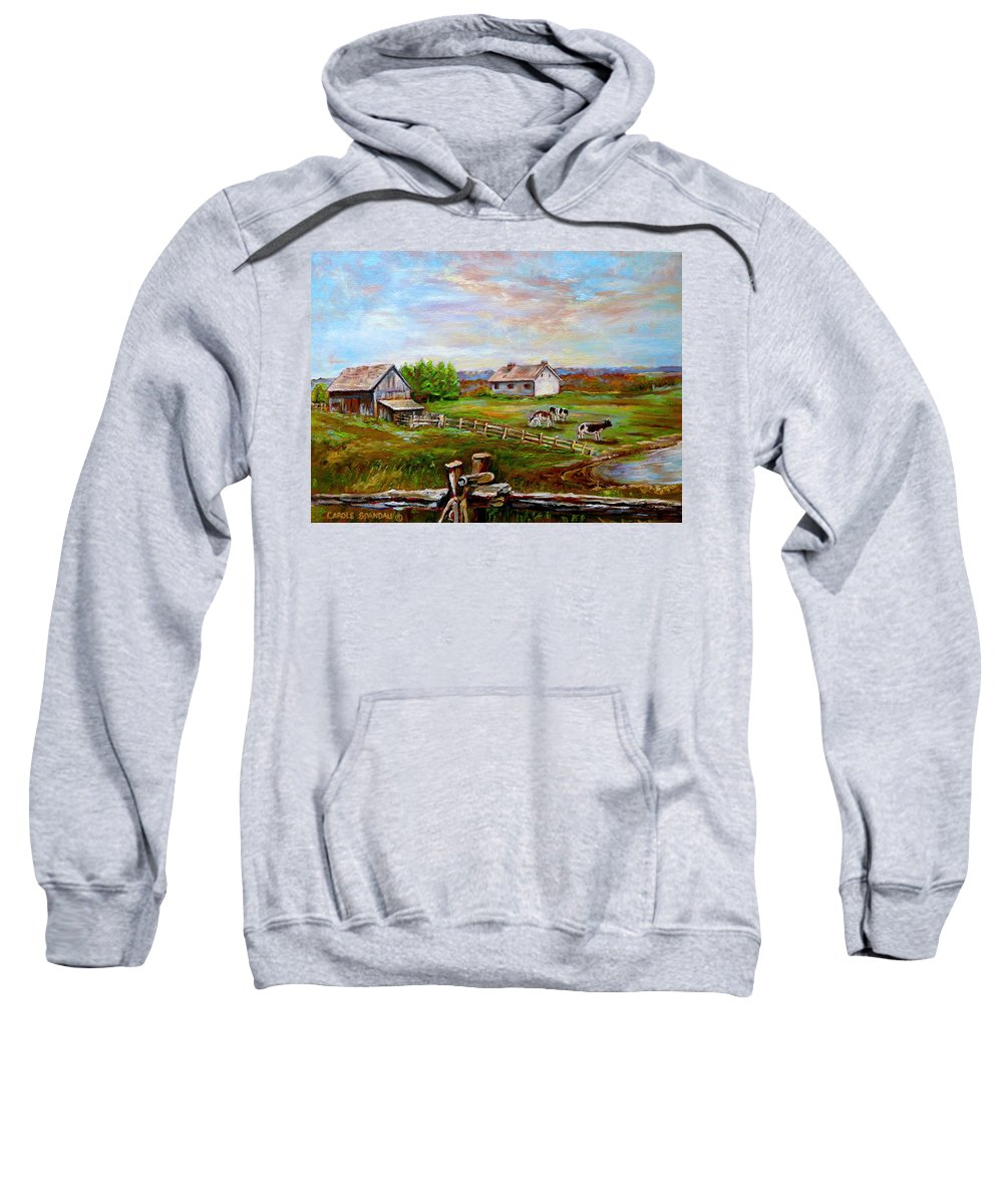 Ile D'orleans Sweatshirt featuring the painting Heaven On Earth by Carole Spandau