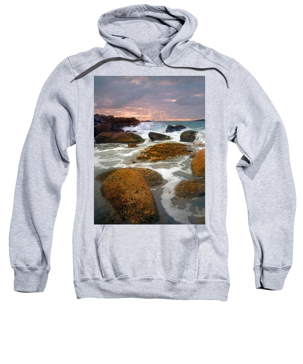 Sunrise Sweatshirt featuring the photograph Heavenly Dawning by Mike Dawson