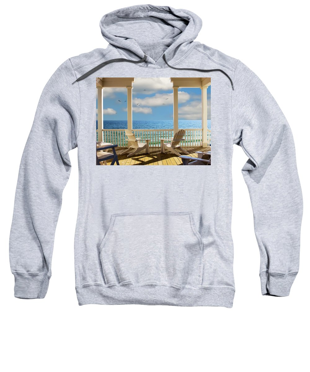 Seaside Sweatshirt featuring the photograph Heaven's Gate by Janet Fikar