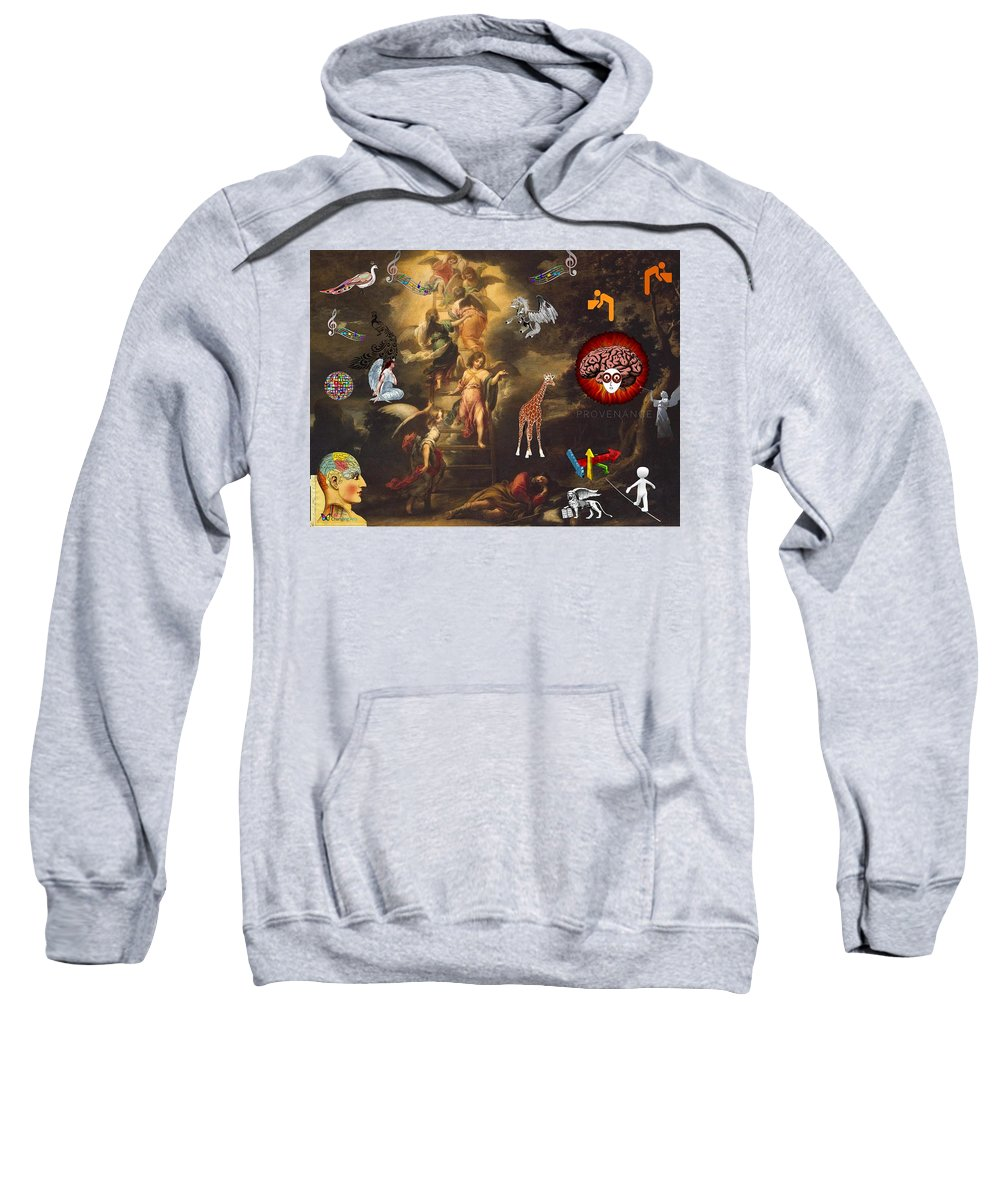 Digital Art Sweatshirt featuring the digital art Heaven's Gate by Steven Brier