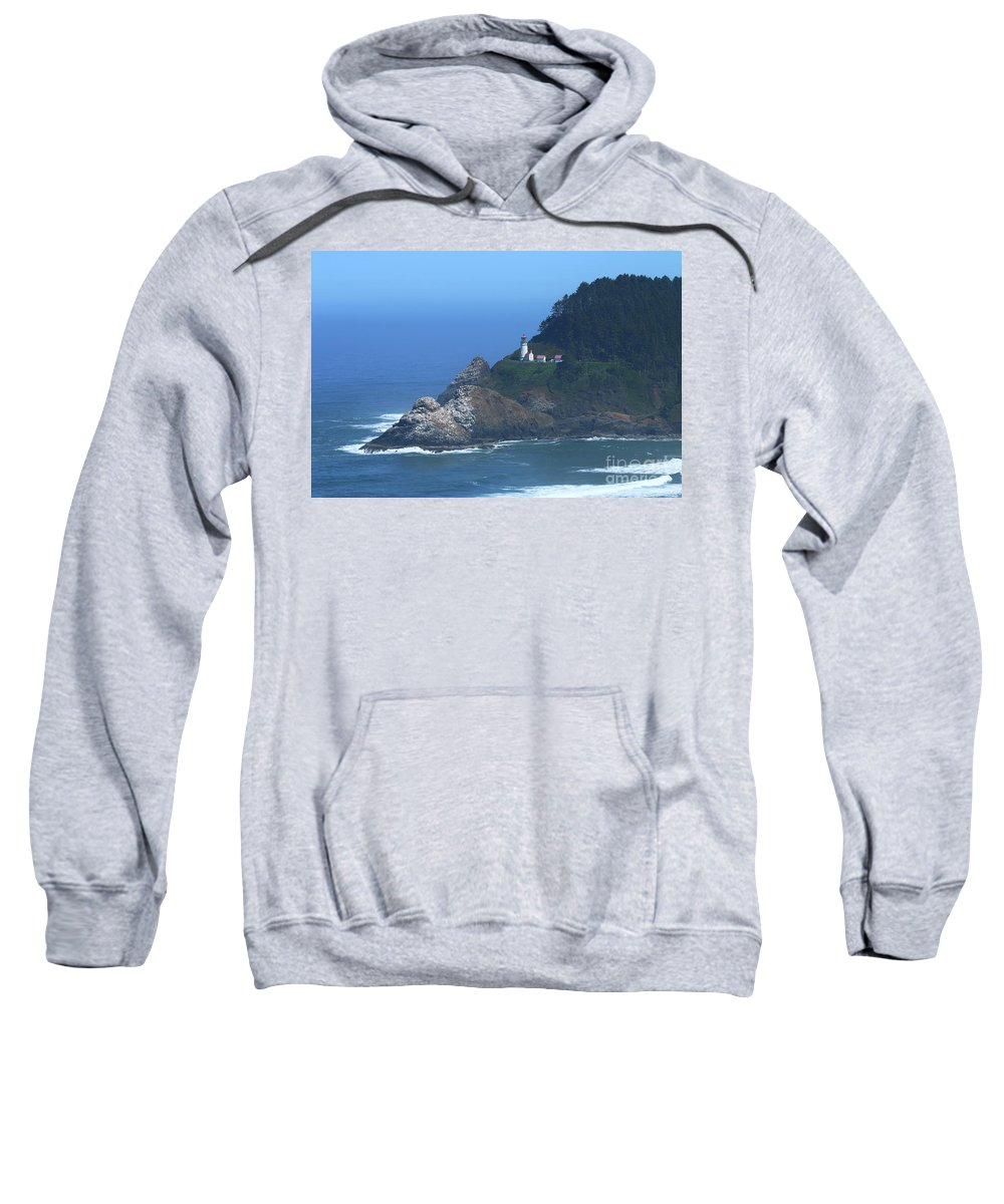 Stone Sweatshirt featuring the photograph Heceta Head by Christiane Schulze Art And Photography