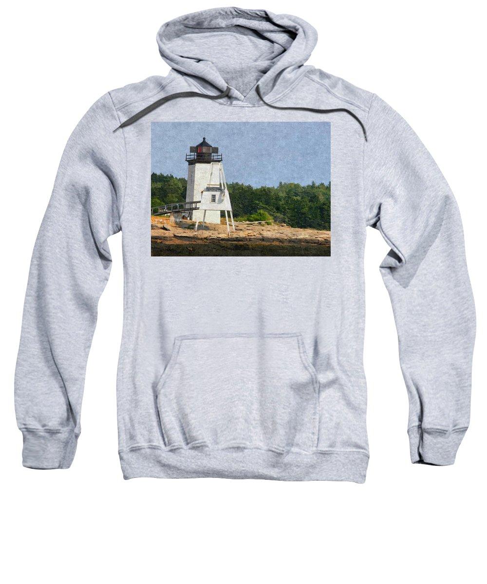 Hendrick Head Sweatshirt featuring the photograph Hendricks Head Lighthouse by Nancie DeMellia