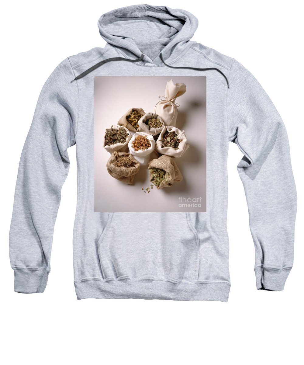 Composition Sweatshirt featuring the photograph Herbal Teas And Seeds by Stefania Levi