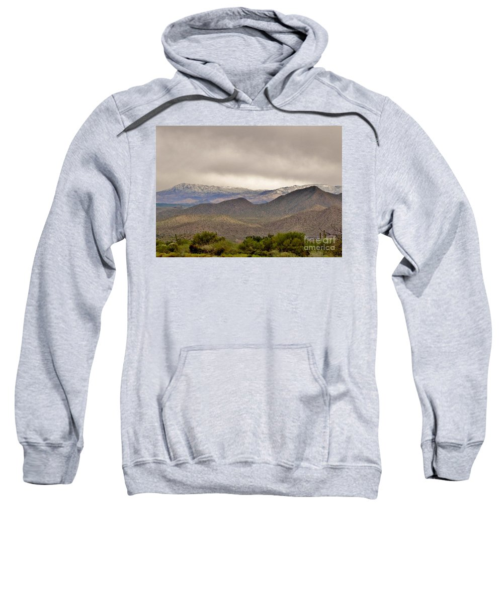 Arizona Landscape Sweatshirt featuring the photograph Here Comes The Sun by Marilyn Smith